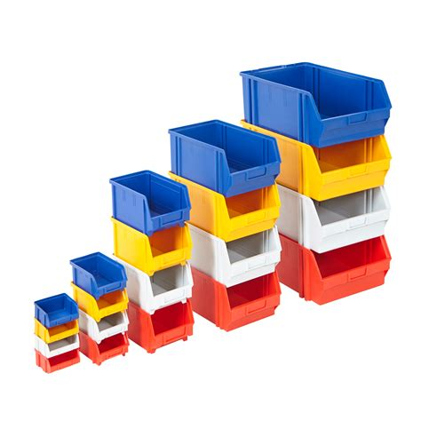plastic parts storage bins value boxes louvre picking pick