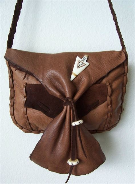 handmade leather bags purses and medicine sacks