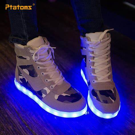 glow in the shoes 2015 glow in the shoes fashion sneakers usb led