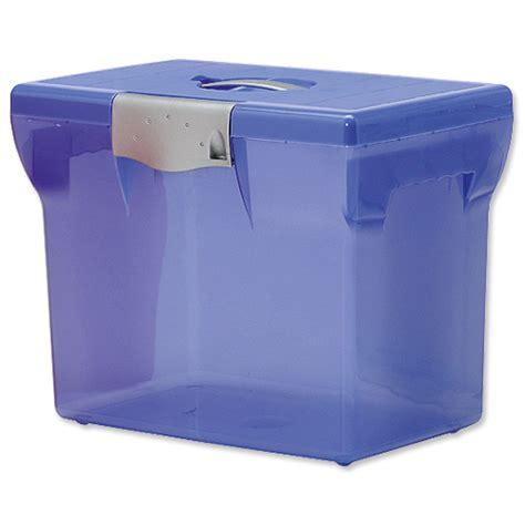 plastic file box file box plastic for suspension files a4 w370xd240xh300mm light blue 40062 03219090400622
