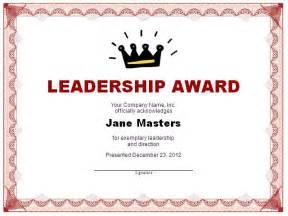 sle award certificate template leadership award template 11 11