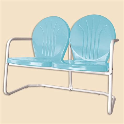 retro glider bench retro metal outdoor furniture glider chairs seating