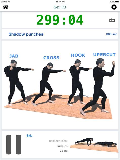 app shopper 20 min boxing workout with calisthenics