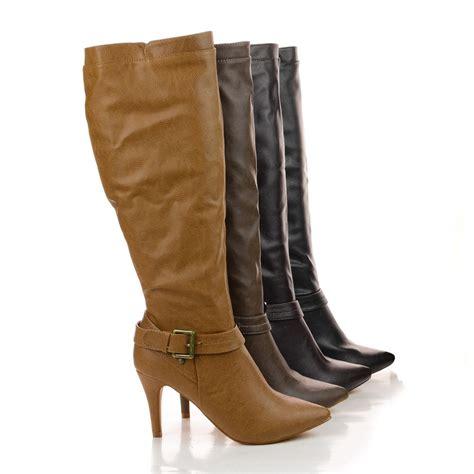 high heel fur boots nancy21x faux fur inner lining mid calf high heel pointy