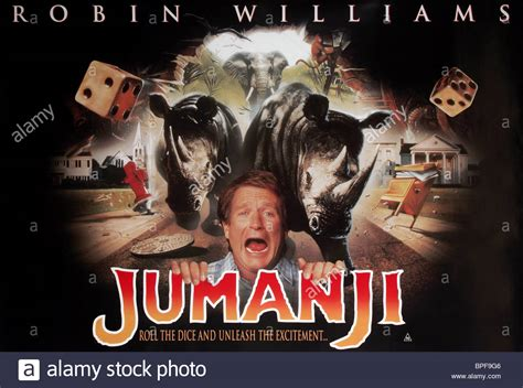 jumanji movie poster robin williams film poster jumanji 1995 stock photo