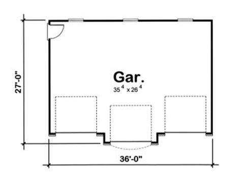 garage door floor plan 3 car garage plans traditional three car garage plan