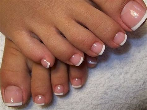 White Tip Toe Nail Designs