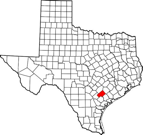where is cuero texas on a texas map file map of texas highlighting dewitt county svg wikimedia commons