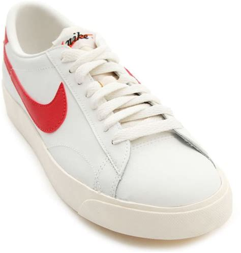 nike classic white tennis sneakers in white for lyst