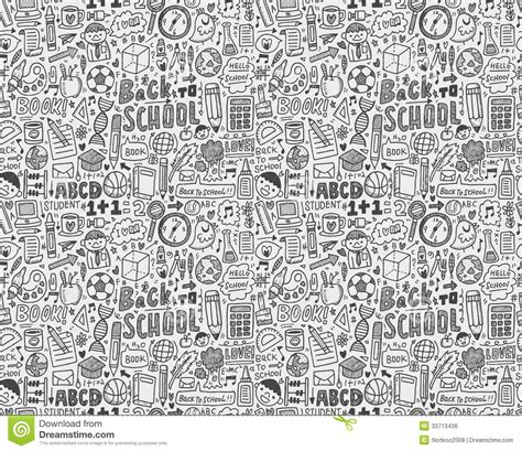 seamless doodle pattern free vector seamless doodle back to school pattern royalty free stock