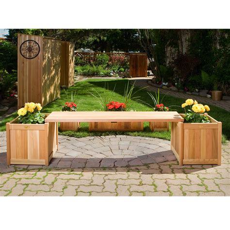 garden bench planter how to fill this garden bench with planter boxes