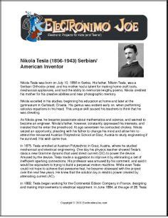 alexander graham bell biography worksheet nikola tesla free printable biography for kids