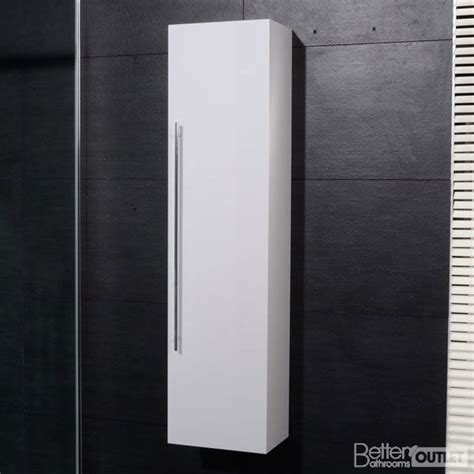New Bathroom Wall Mounted Hung Side Cabinet Unit Tall High Gloss Bathroom Storage