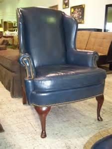 Plaid pattern blue white chair cover for wingback chair in brown nook elegant homes showcase