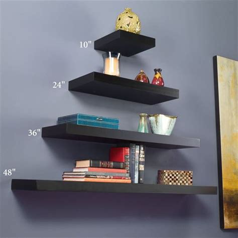 floating shelf 54 floating shelves xl floating manhattan black wooden floating wall shelves