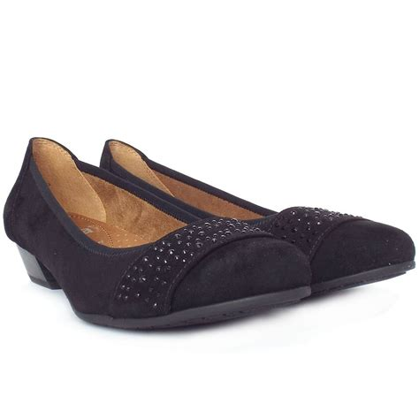 stamford black suede s smart casual wide fit