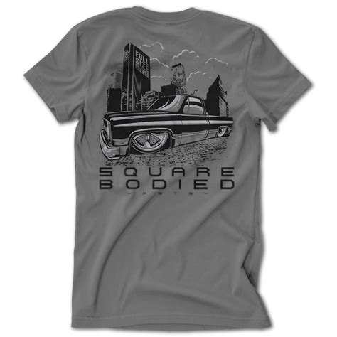 One From Square T Shirt size truck square bodied c10 tshirt low label