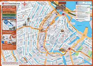 tourist map of central large top tourist attractions map of central part of amsterdam city vidiani maps of all