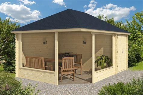 Log Cabin Plans Free morten log gazebo with shed annexe 3 5 x 5 0m