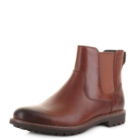 clarks chelsea boots mens mens clarks montacute top real leather chelsea