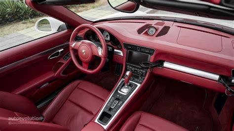 porsche red interior porsche 911 carrera s cabriolet review autoevolution