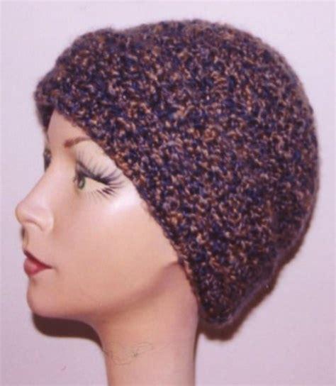Crochet Hat Pattern Homespun Yarn | head huggers crochet pattern homespun hat