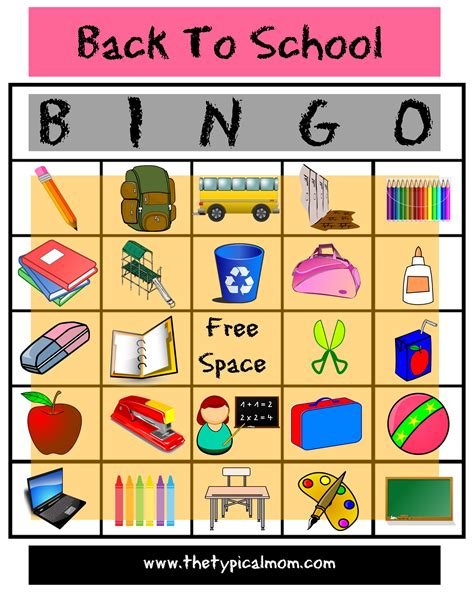 printable games for school here s is an awesome free printable back to school bingo
