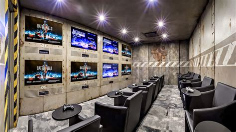 gaming room industrial home theater calgary  kw