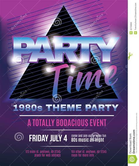 80s flyer template www pixshark images