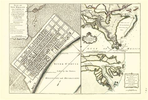 new orleans historical maps historic city maps new orleans area louisiana la by