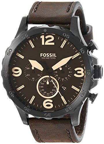 Fossil Original Jr 1436 Leather Stainless Steel fossil s jr1487 nate stainless steel with brown leather band in the uae see prices