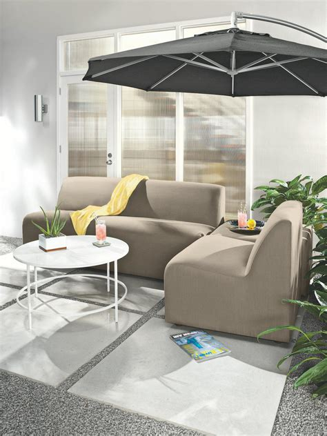 room and board outdoor furniture stylish patio with modern outdoor furniture a neutral outdoor sofa and seat combine to