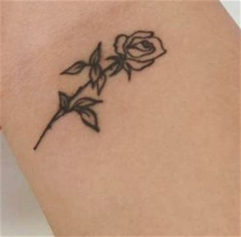 small rose tattoo pinteres
