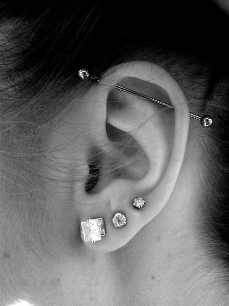 Top Ear Bar 25 best ideas about industrial piercing on ear piercings industrial industrial bar