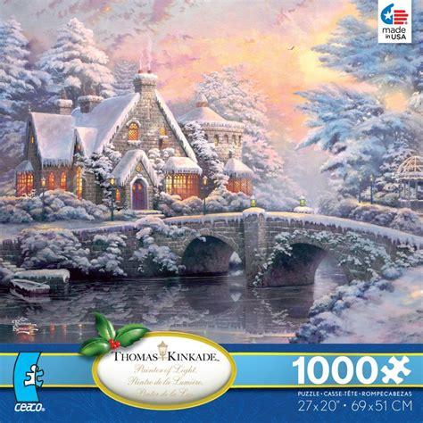 printable winter jigsaw puzzles thomas kinkade winter at llight manor jigsaw puzzle
