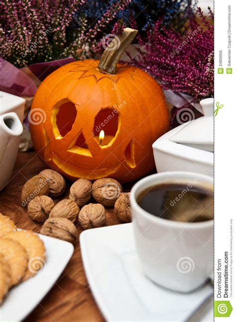 halloween coffee halloween coffee composition royalty free stock image
