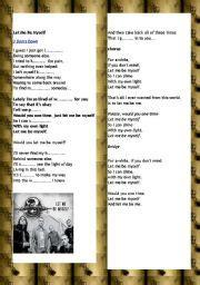 Let Me Be Myself 3 Doors by Teaching Worksheets Other Songs