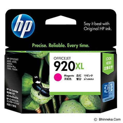 Tinta Printer Hp Officejet 6500a jual hp magenta ink cartridge 920xl cd973aa murah