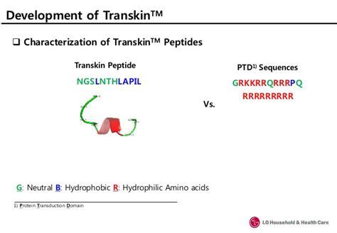 protein vs peptide transkintm a novel skin enhancing peptide