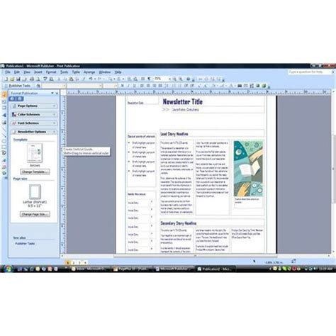 Microsoft Publisher 2007 Review Excellent Software For Desktop Publishers Microsoft Office Publisher 2007 Templates