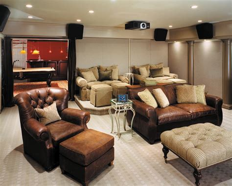 comfortable media room