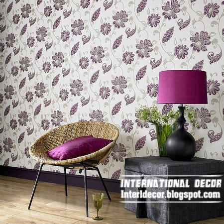 purple flower wallpaper for living room modern living room wallpaper design ideas interior