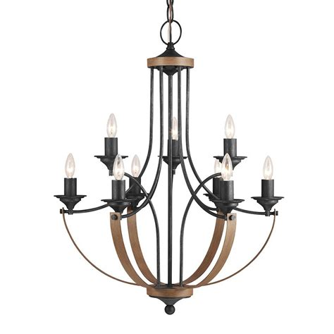 Iron Candle Chandelier Shop Sea Gull Lighting Corbeille 27 In 9 Light Stardust