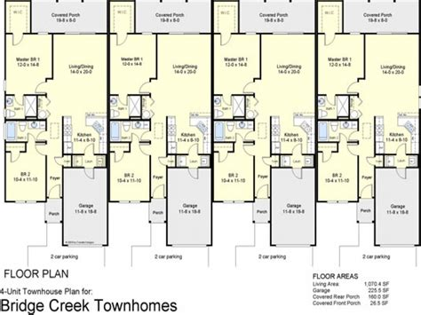 townhouse house plans 4 plex townhouse floor plans 4 plex apartment floor plans