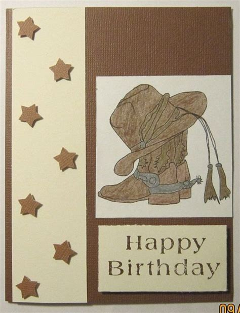 toughest cowboy in a western happy happy birthday cowboy card by angieshandmadecards on etsy