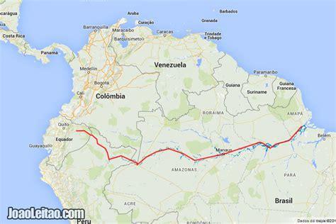 amazon river map 550 hours on amazon river brazil peru ecuador by boat