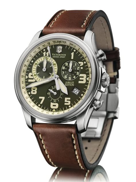Swiss Army Ba702 Dualtime Brown Leather victorinox swiss army infantry vintage jubilee edition