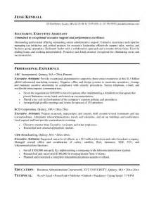 exle executive assistant resume free sle
