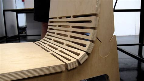 Plywood Design wooden living hinge youtube