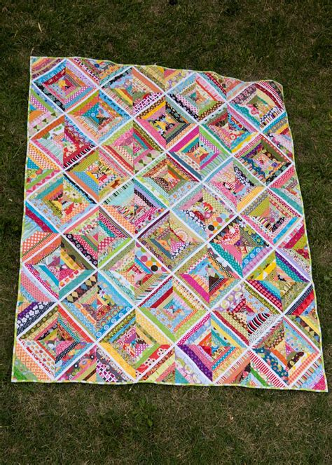 colorful quilt colorful string quilts are a great use for scraps